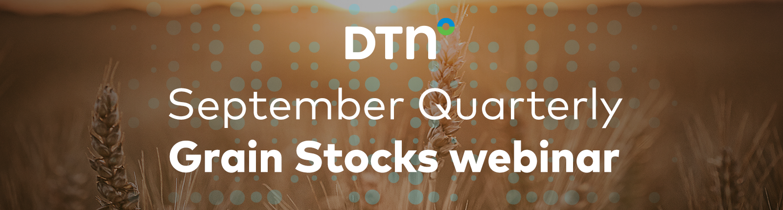 Register for our September Quarterly Grain Stocks webinar